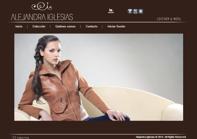 Sitio web prendas de cuero