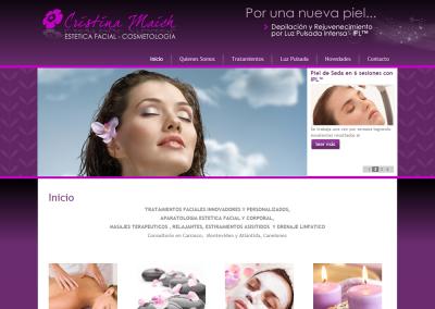 Sitio web tratamientos estéticos