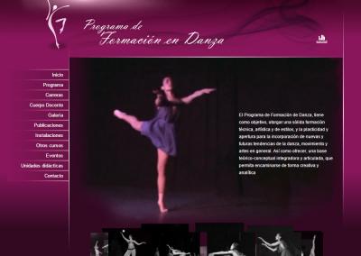 Sitio web formación en danza