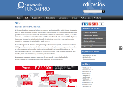 Web observatorio de educación
