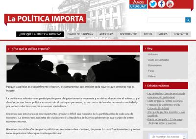 Sitio web sobre política