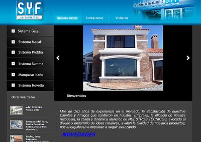 Sitio web para empresa de cerramientos